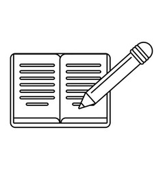 Book pencil study outline vector