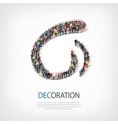 decoration people sign 3d vector image vector image