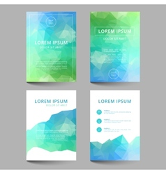 Document template low poly design vector image
