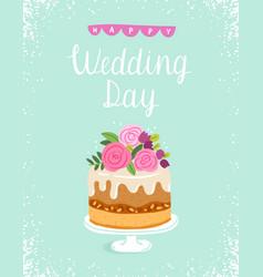 happy wedding day vector image vector image