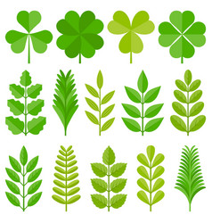 leaves icon set 4 vector image