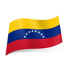 national flag of venezuela yellow blue and red vector image