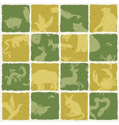 seamless zoo themed pattern vector image vector image