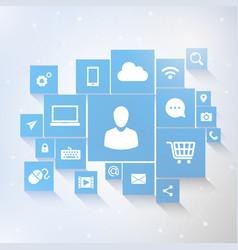 social media connection concept vector image