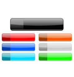 website menu buttons vector image