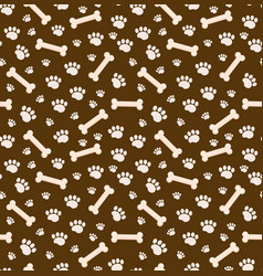 dog bones seamless pattern bone and traces of vector image vector image