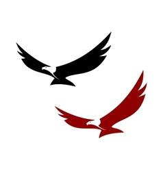 Graceful soaring eagle vector image