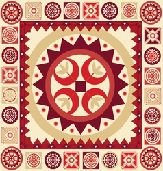 Ornamental pattern with many details vector image