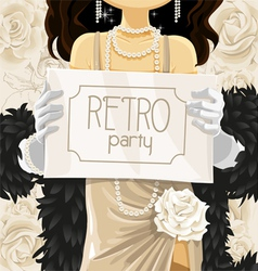 Retro party poster vector image vector image