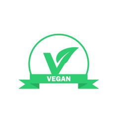 vegan label vegetarian food icon sticker vector image