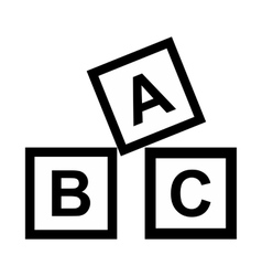 ABC blocks toy simple icon vector image