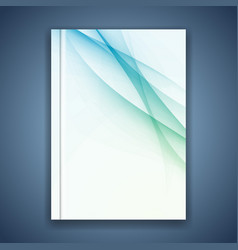 business folder cover conceptual layout vector image vector image