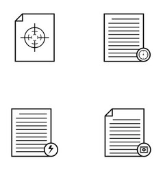 document icons set vector image vector image