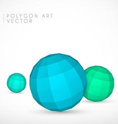 Polygon spheres vector image vector image