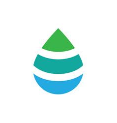 water drop logo design template vector image