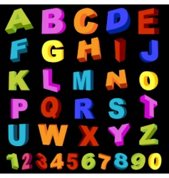 alphabet with numerals vector image vector image