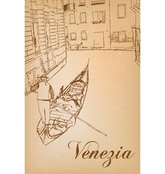 I love Venice vector image vector image