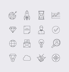 Line icons set in flat design Elements of business vector image