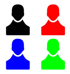 People figure icons in multiple colors vector