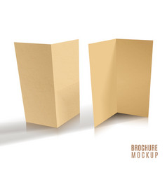 3d brochure of paper craft vector image