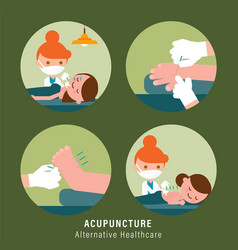 Acupuncture alternative healthcare vector