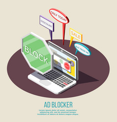 Ad blocking isometric composition vector