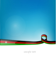Afghanistan ribbon flag on blue sky background vector