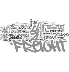 Air freight carrier text word cloud concept vector