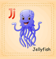 Animals alphabet j is for jellyfish vector