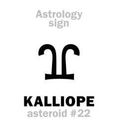 Astrology asteroid kalliope vector