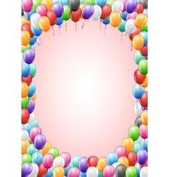 Balloons header template vector