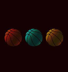 basketball design set symbol vector image