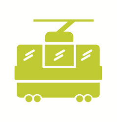 Beautiful chairlift glyph icon vector