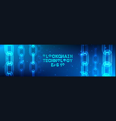 Blockchain technology background cryptocurrency vector