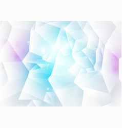 blue and pink abstract low polygonal background vector image
