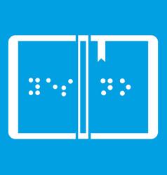 Braille icon white vector