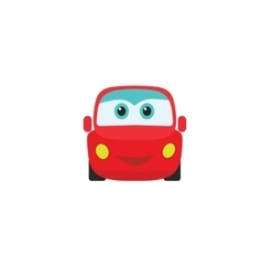 car auto cartoon icon kids little toy vector image