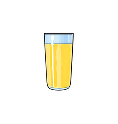 cartoon glass cup of lemon fruit juice vector image