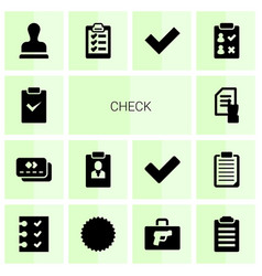 Check icons vector