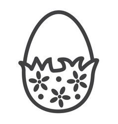 chocolate egg with wrapper line icon easter vector image