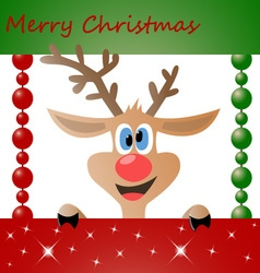 Christmas Deer 01 vector image