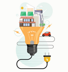 Clean green city eco friendly world flat vector