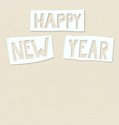 Cutout happy new year vector
