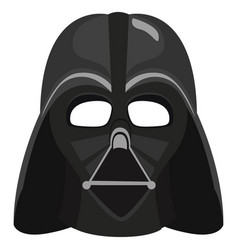 Darth vader mask on white background vector