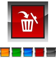 Delete icons vector
