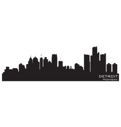 detroit michigan skyline vector image
