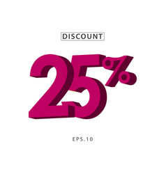 Discount 25 template design vector