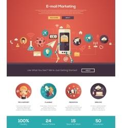 E-mail marketing website header banner vector