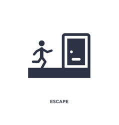 Escape icon on white background simple element vector