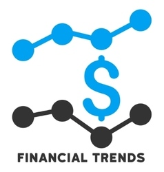 Financial Trends Icon With Caption vector